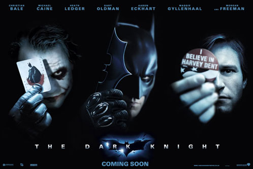 Nuevo cartel de The Dark Knight: Tres figuras