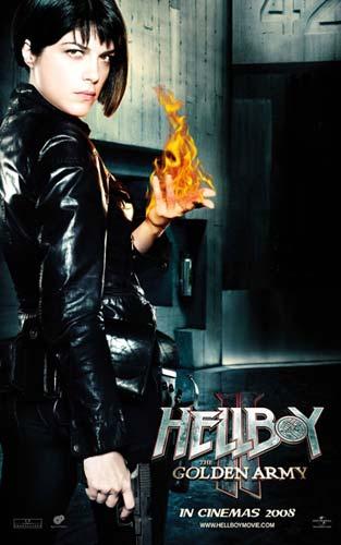 Nuevo póster de Hellboy II: El Ejército Dorado - Liz Sherman
