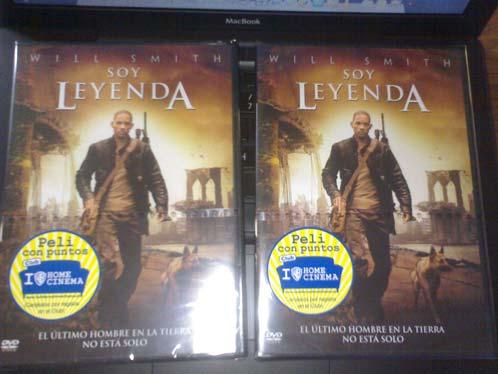 Dos DVDs de Soy Leyenda de regalo!