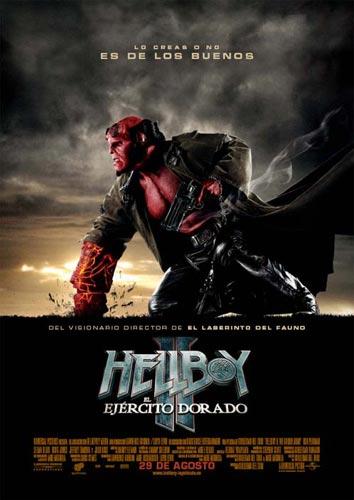 Póster español de Hellboy II: El Ejército Dorado