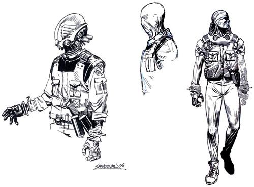 Arte conceptual de Hellboy II creado por Sergio Sandoval
