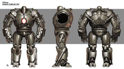 Modelo final de Iron Monger creado por Adi Granov