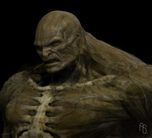 Diseño definitivo de Aaron Sims para Abominación, se nota más el fondo humano