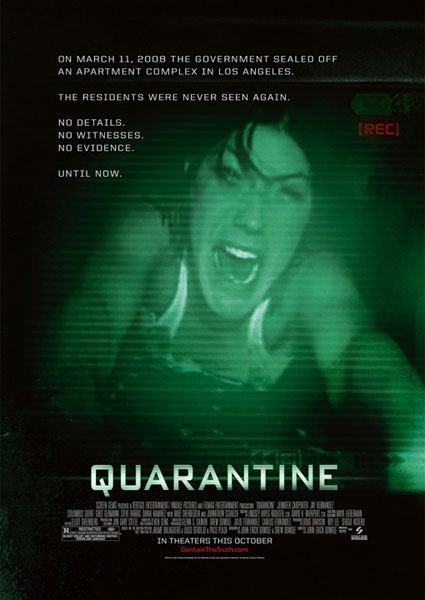 Primer cartel de Quarantine