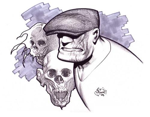 Dibujo de El Bruto de Eric Powell