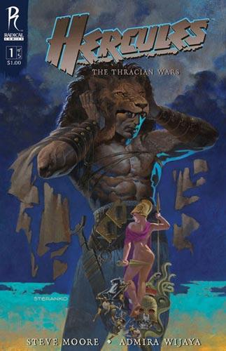 Portada del número 1 de Hercules: The Thracian Wars