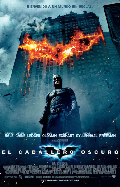 Póster español de The Dark Knight / El caballero oscuro