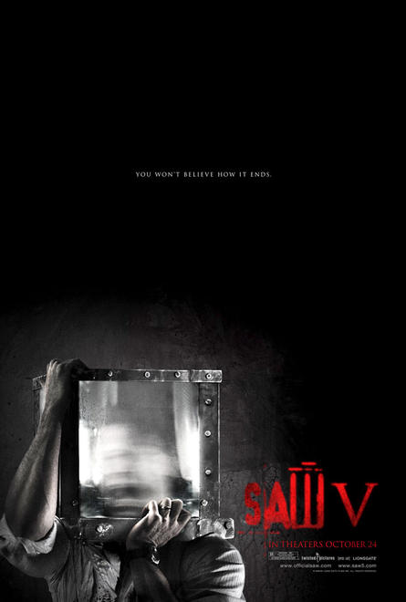 Nuevo cartel de Saw V... You won't believe how it ends