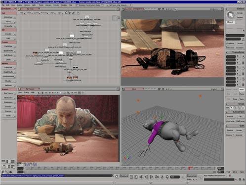 Iluminación e integración de los personajes 3D en la película