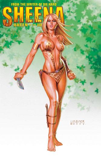 Uno de los nuevos cómics de Sheena escrito por Steven de Souza