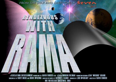 Cartel de promoción de Rendezvous With Rama