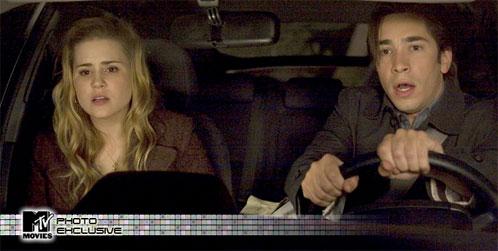 Alison Lohman como Christine y Justin Long como Clay en Drag Me to Hell