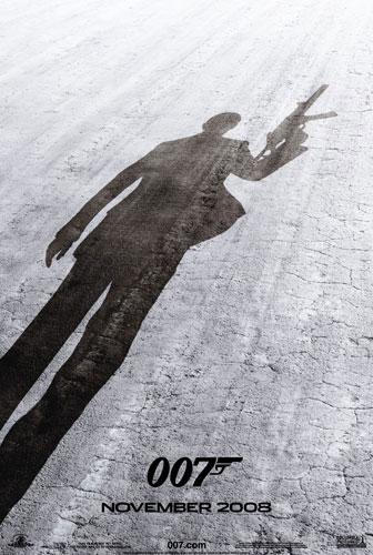 Uno de los carteles de Quantum of Solace