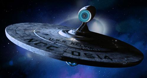 La USS Kelvin surcando el espacio sideral