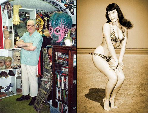 Forrest J Ackerman y Bettie Page, dos mitos que se despiden