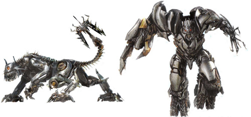 Ravage y Megatron en Transformers: Revenge of the Fallen