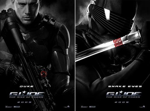 Dos carteles de G.I. Joe: The Rise of Cobra - Duke y Snake Eyes