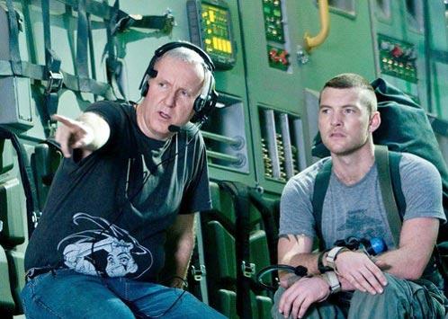 Rodaje de Avatar: Cameron instruye a Worthington