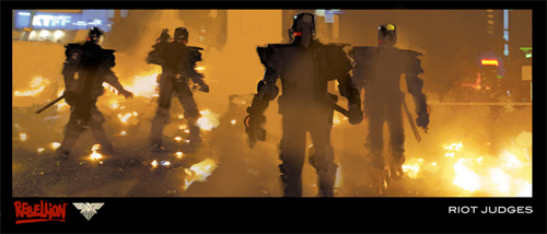 Primer arte conceptual de Judge Dredd