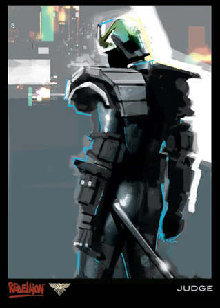 """""""Juez"""", arte conceptual de Judge Dredd por Jock"""