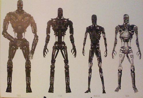 Arte conceptual de Terminator: Salvation... la serie T humanoide al completo!