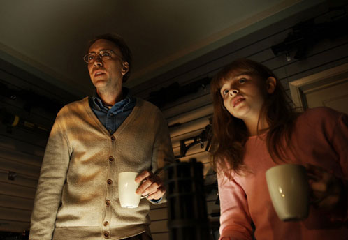 Damon Macready (Nicolas Cage) y su hija Mindy (Chloe Moretz)