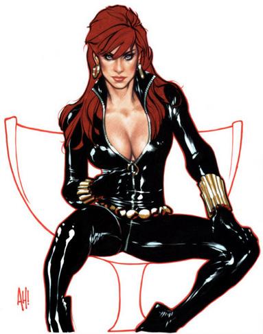 Natasha Romanoff / Black Widow por Adam Hughes!!!
