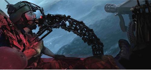 Arte conceptual de Terminator Salvation: hydrobot haciendo una escabechina