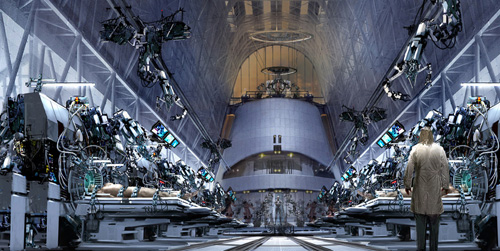 Arte conceptual de Terminator Salvation: Factoría de Terminator de Skynet