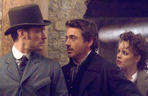 El Dr. John Watson, Sherlock Holmes e Irene Adler