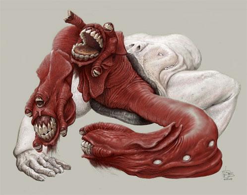 Diseño de una criatura de Dante's Inferno