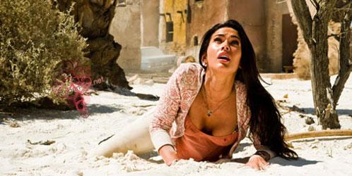 Mikaela Banes (Megan Fox) en una pose no se si apropiada