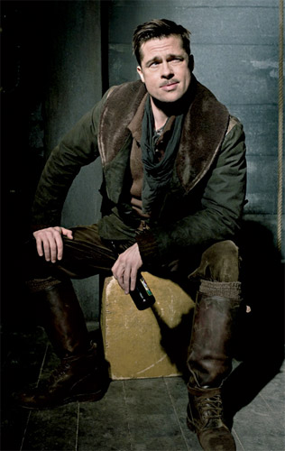 Brad Pitt como el teniente Aldo Raine