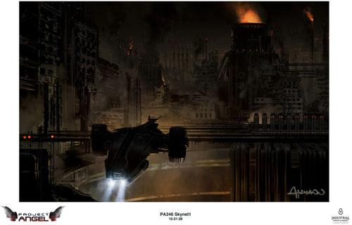 Arte conceptual de Terminator Salvation. SkyNet