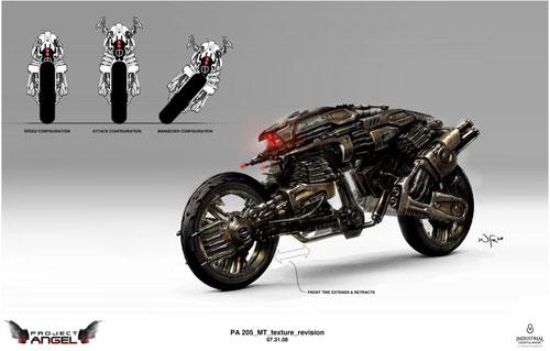 Arte conceptual de Terminator Salvation. Mototerminator