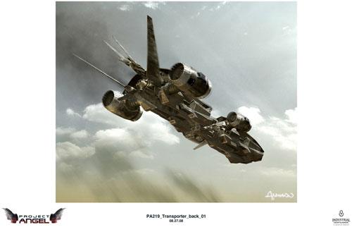 Arte conceptual de Terminator Salvation. Transportador
