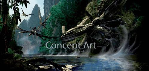 Arte conceptual de un AH-19 SCORPION o un C-21 DRAGON de Avatar