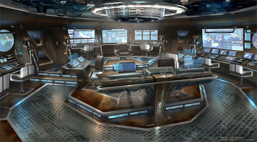 Arte conceptual de James Clyne para Star Trek
