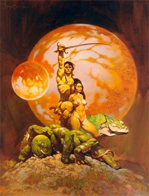John Carter de Marte por Frank Frazetta
