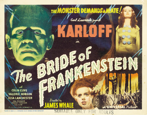 Cartel de La novia de Frankestein