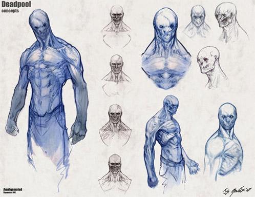 """Diseño de Deadpool para """"X-Men orígenes: Lobezno"""""""