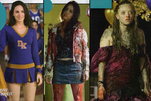 Megan Fox como Cheerleader, Megan Fox poseída y Amanda Seyfried