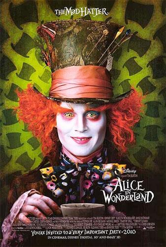 Póster del Sombrerero Loco para Alice in Wonderland