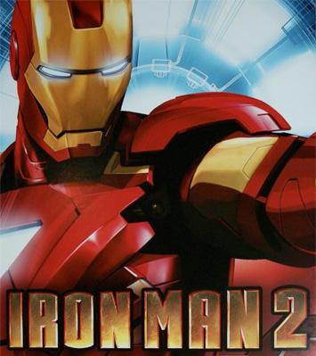 Cartel de Iron Man 2 expuesto en la Comic-Con de San Diego