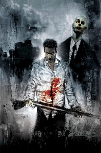 Dibujo de Criminal Macabre realizado por el maestro Ben Templesmith