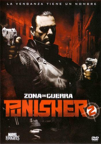 Carátula del DVD de Punisher 2: Zona de Guerra