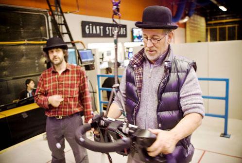 Jackson y Spielberg en el rodaje de Las aventuras de Tintín: el secreto del Unicornio